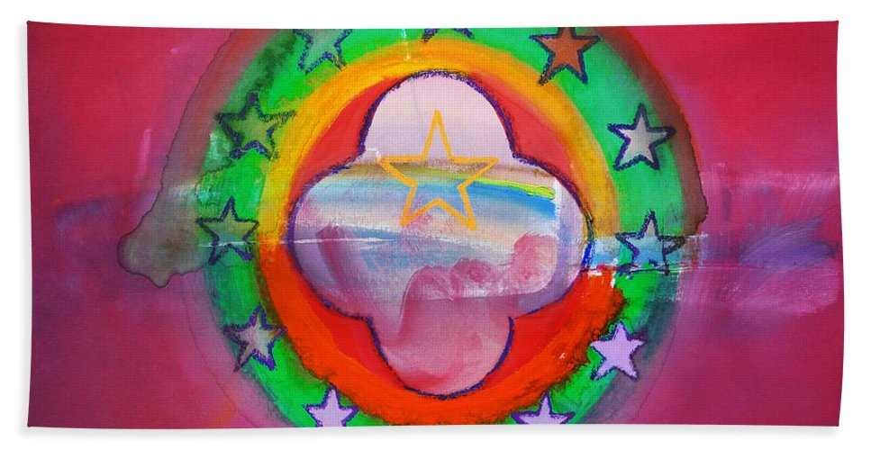 Symbol Bath Sheet featuring the painting Euro Fishing Boat by Charles Stuart