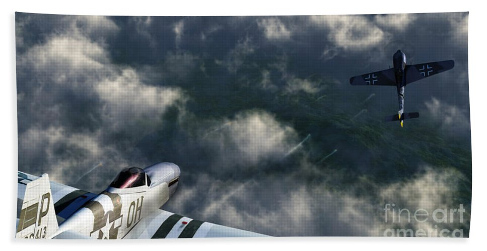 Warbirds Bath Towel featuring the digital art Evade by Richard Rizzo