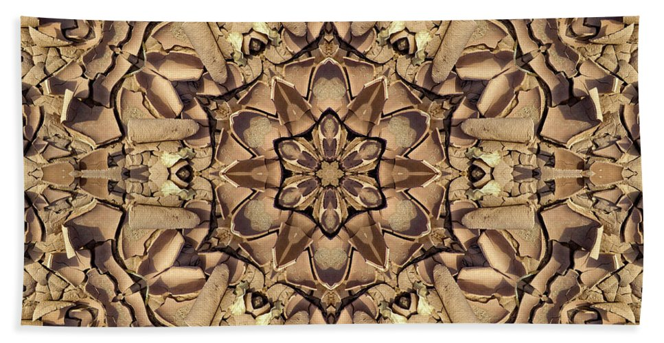 Kaleidoscope Earth Mandalas Hand Towel featuring the digital art Evanescence by Becky Titus