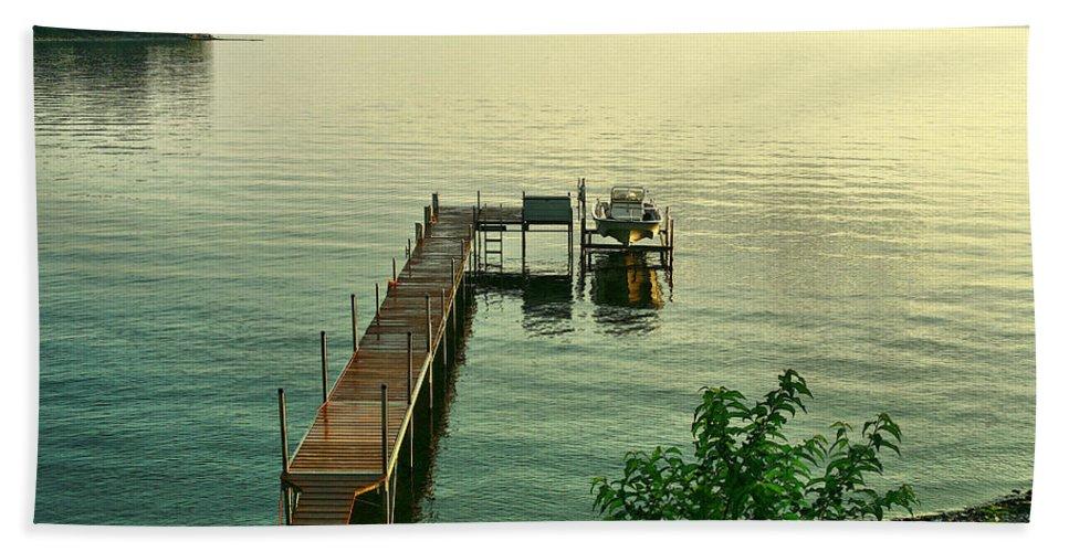 Lake Bath Sheet featuring the photograph Evening In Charlotte by Deborah Benoit