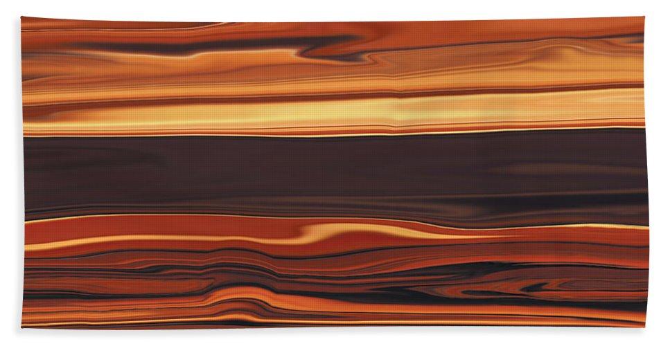 Abstract Bath Sheet featuring the digital art Evening In Ottawa Valley 1 by Rabi Khan