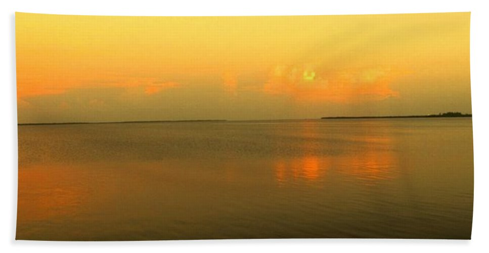Florida Hand Towel featuring the photograph Evening Shades by Ian MacDonald