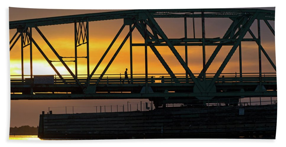 Topsail Bath Sheet featuring the photograph Evening Stroll by Betsy Knapp