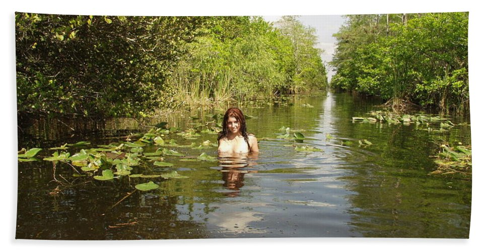 Lucky Cole Everglades Photographer Bath Sheet featuring the photograph Everglades Beauty One by Lucky Cole