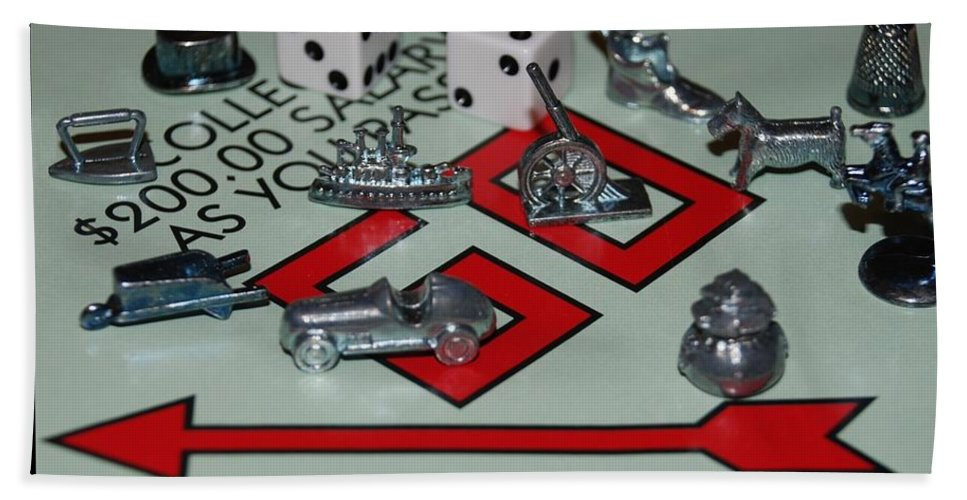 Monopoly Hand Towel featuring the photograph Everyone Pass Go by Rob Hans