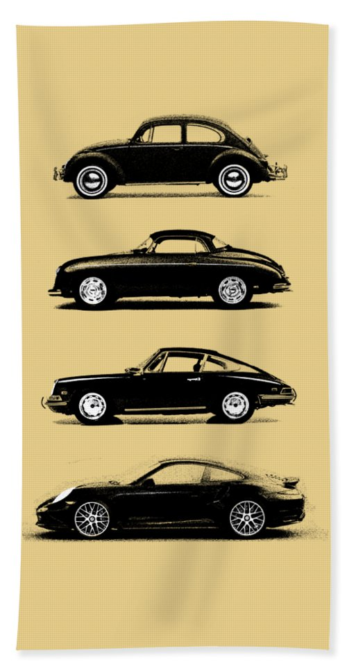 Porsche Bath Towel featuring the photograph Evolution by Mark Rogan