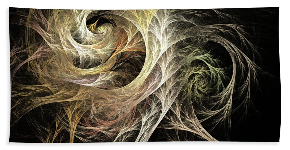 Modern Bath Sheet featuring the digital art Evolve Fractal by Archetypus Deed