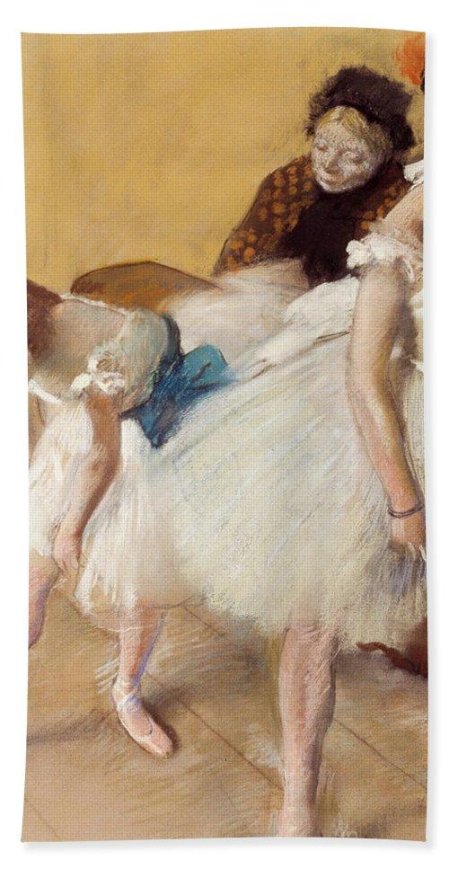 Dance Hand Towel featuring the painting Examen De Danse-dance Examination by Edgar Degas