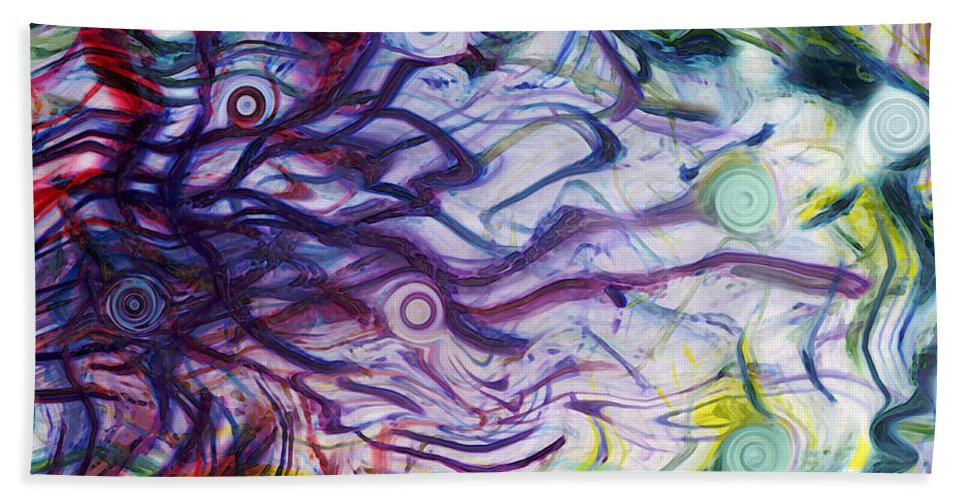 Energy Art Movement Hand Towel featuring the digital art Exhalation by Linda Sannuti