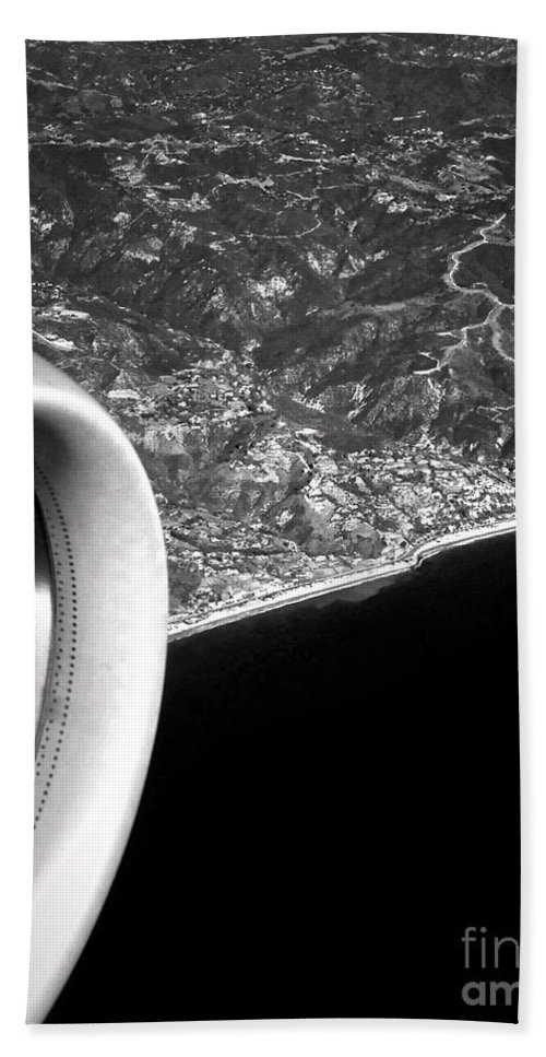 Plane Bath Sheet featuring the photograph Exit Row - Window Seat by Gwyn Newcombe