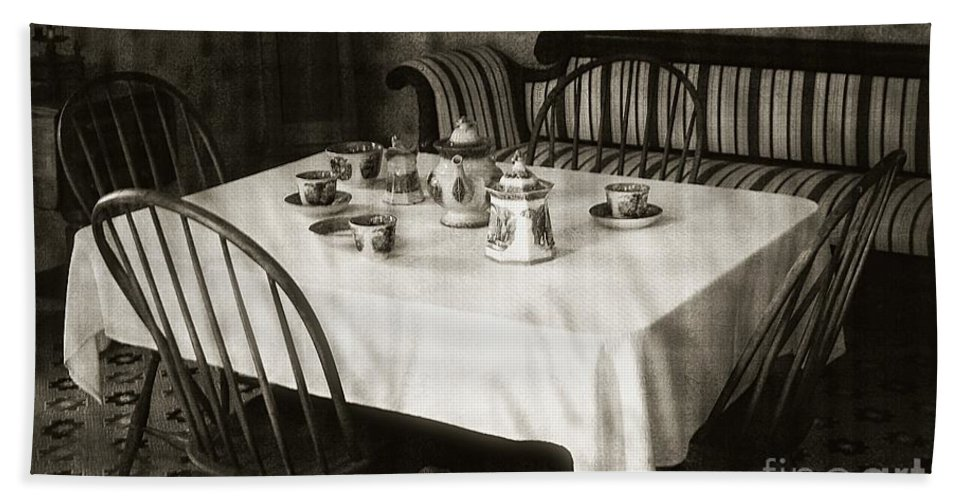 Still Life Bath Sheet featuring the photograph Expecting Guests by RC DeWinter