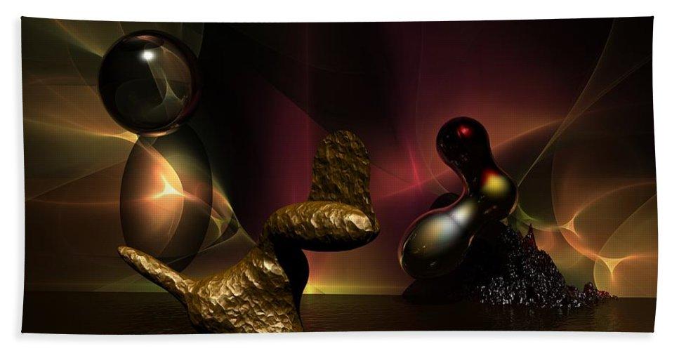 Fantasy Bath Sheet featuring the digital art Experiment in Dementia by David Lane