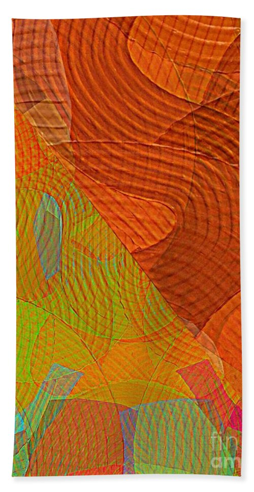 Abstract Extrapolation Hand Towel featuring the painting Explore Transdimensions 24 by Trent Jackson