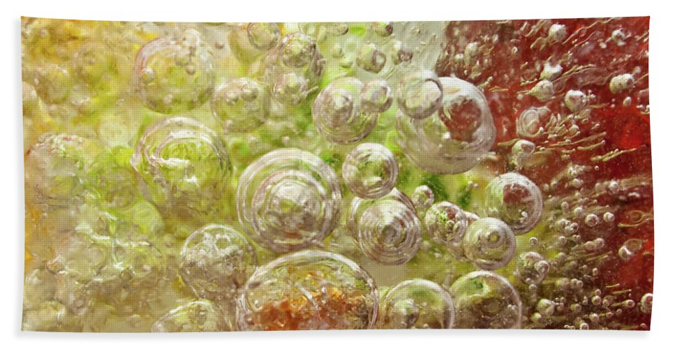 Abstract Bath Sheet featuring the photograph Explosion by Shannon Workman