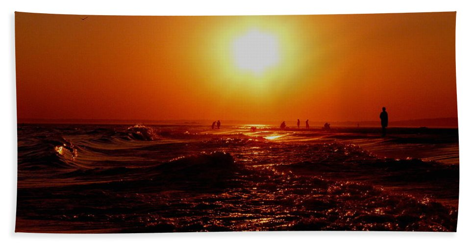 Beach Hand Towel featuring the photograph Extreme Blazing Sun by Kendall Eutemey