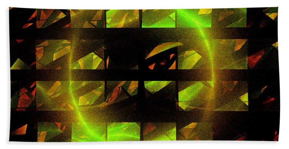 Fractal Bath Sheet featuring the digital art Eye In The Window by Victoria Harrington