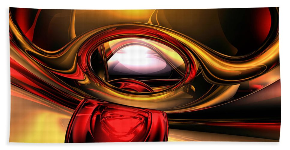 3d Bath Towel featuring the digital art Eye Of The Gods Abstract by Alexander Butler