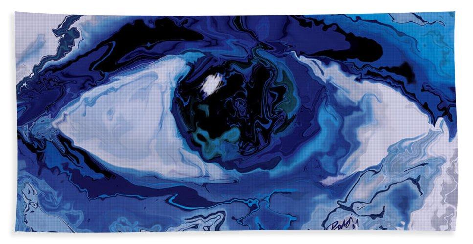 Eye Hand Towel featuring the digital art Eye by Rabi Khan