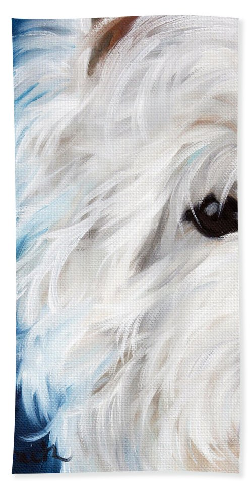 Art Bath Sheet featuring the painting Eye See You by Mary Sparrow