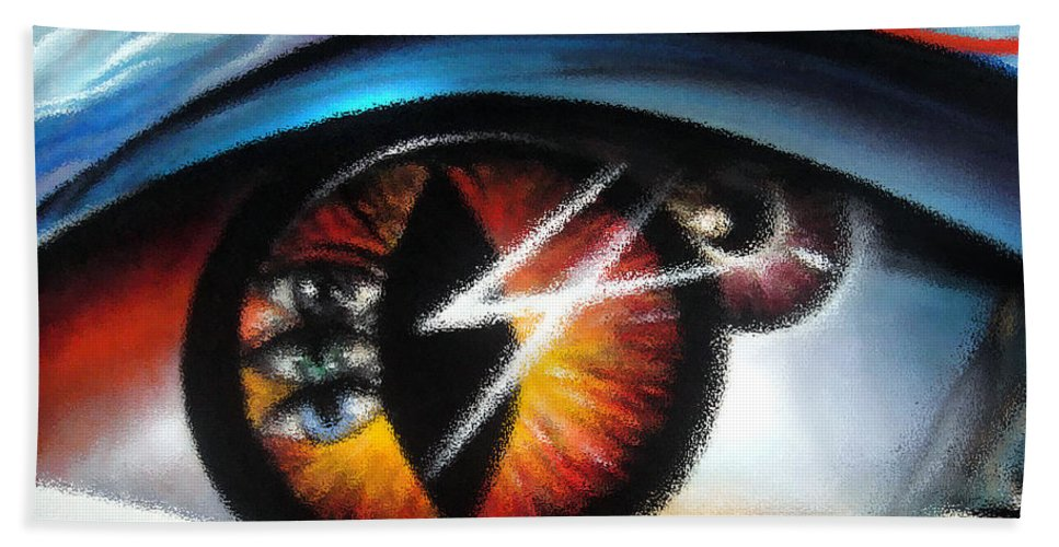Eye Hand Towel featuring the digital art Eyes Of Immortal Soul by Sofia Metal Queen