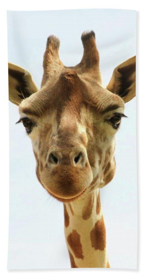 Giraff Bath Sheet featuring the photograph Eyes On You by Michelli Rios-Allen