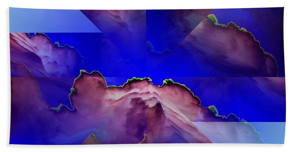 Clouds Hand Towel featuring the digital art Face Cloud Illusion by Tim Allen