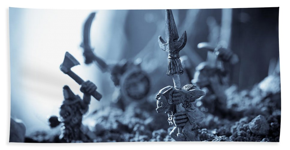 Fantasy Hand Towel featuring the photograph Facing The Enemy by Marc Garrido