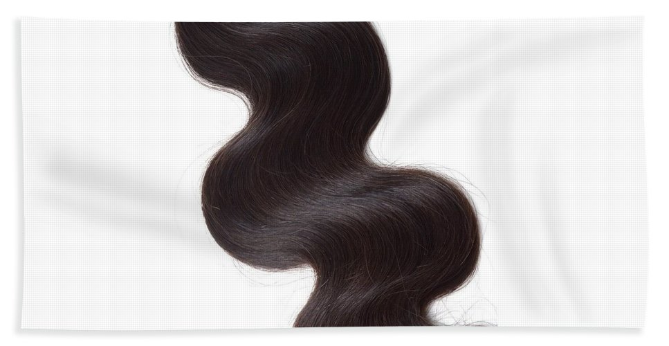 Brazilian Body Wave Weave Bath Sheet featuring the photograph Factory Price Top Quality Hair Weft Unprocessed Brazilian Body Wave Hair- Straight View by T Hair