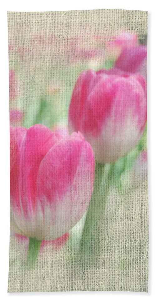 Floral Hand Towel featuring the photograph Faded Floral 8 by Michael Peychich