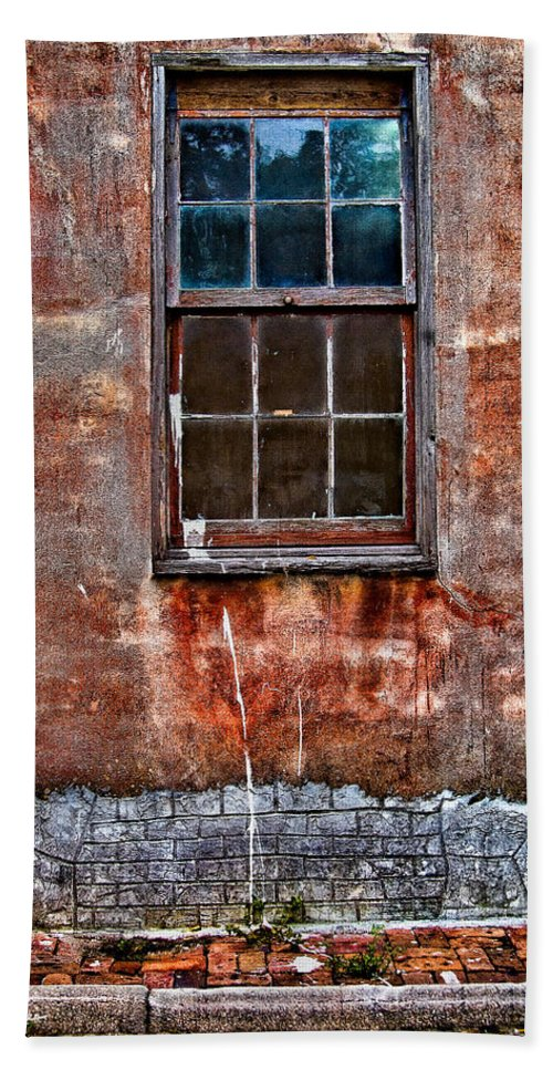Window Hand Towel featuring the photograph Faded Over TIme by Christopher Holmes