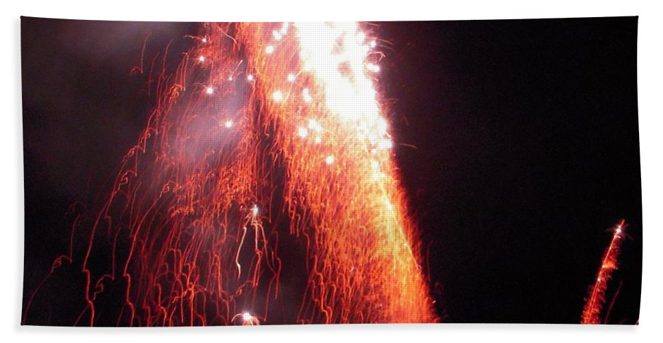 Fire Hand Towel featuring the photograph Fait In The Night by Vesna Antic