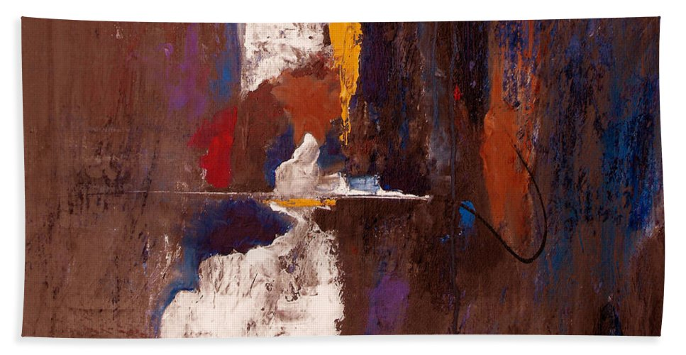 Abstract Bath Sheet featuring the painting Faithful And True by Ruth Palmer