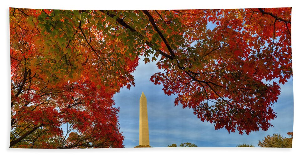 Fall Bath Sheet featuring the photograph Fall 2015 Washington Dc by Bill Dodsworth