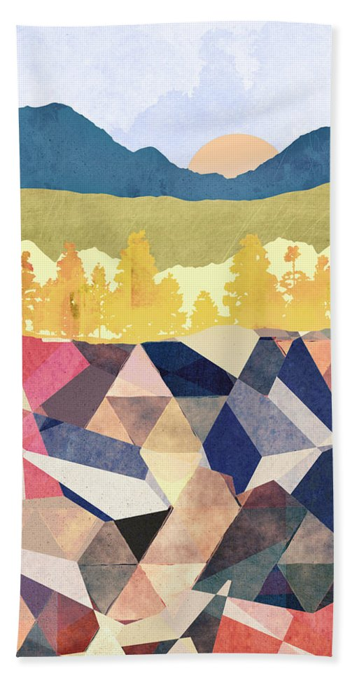 Fall Bath Towel featuring the digital art Fall Afternoon Light by Spacefrog Designs