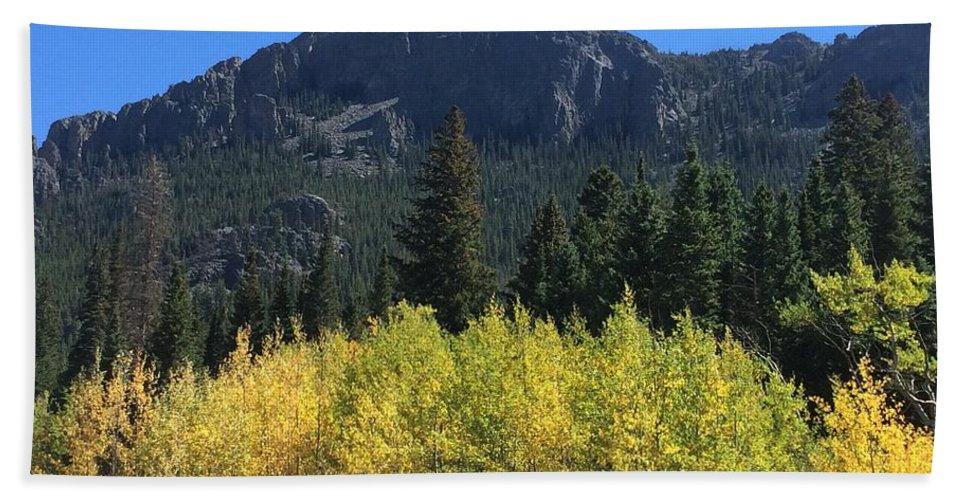 Landscape Bath Towel featuring the photograph Fall at Twin Sisters by Kristen Anna