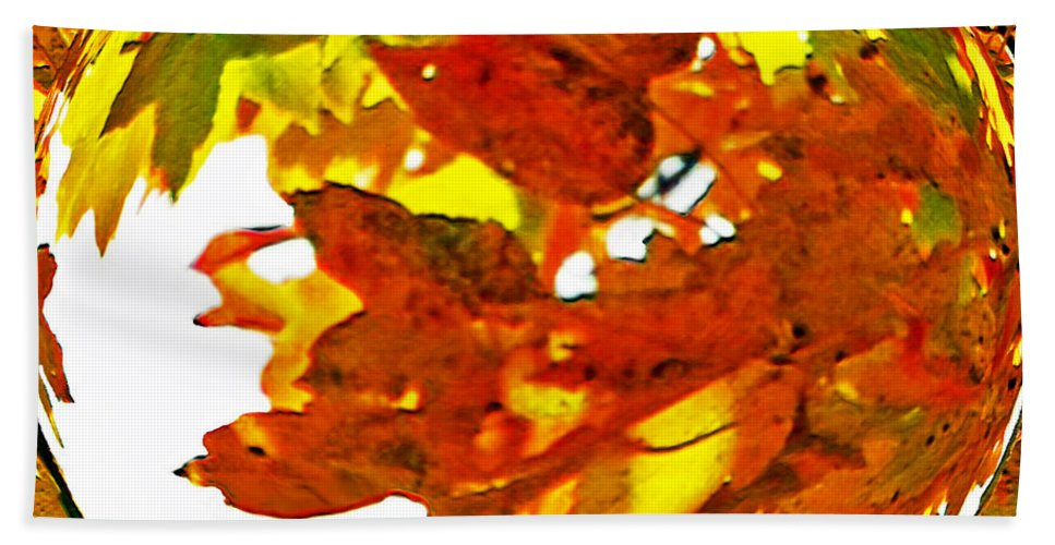 Autumn Hand Towel featuring the photograph Fall Ball by Lydia Holly