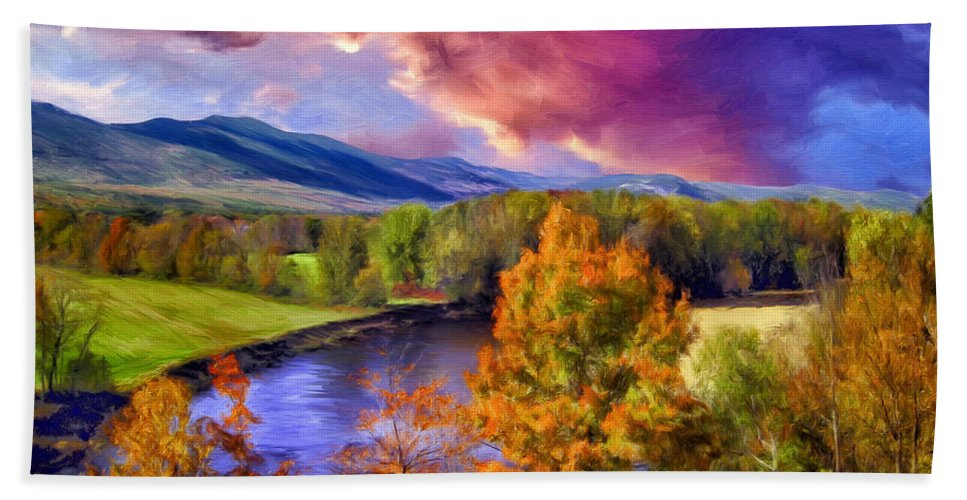 Fall Colors Bath Sheet featuring the painting Fall Colors by Dominic Piperata