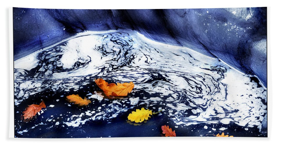 Fall Hand Towel featuring the photograph Fall Flotilla by Mal Bray
