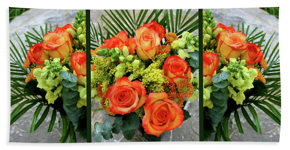 Roses Bath Sheet featuring the photograph Fall Flowers by Kristin Elmquist