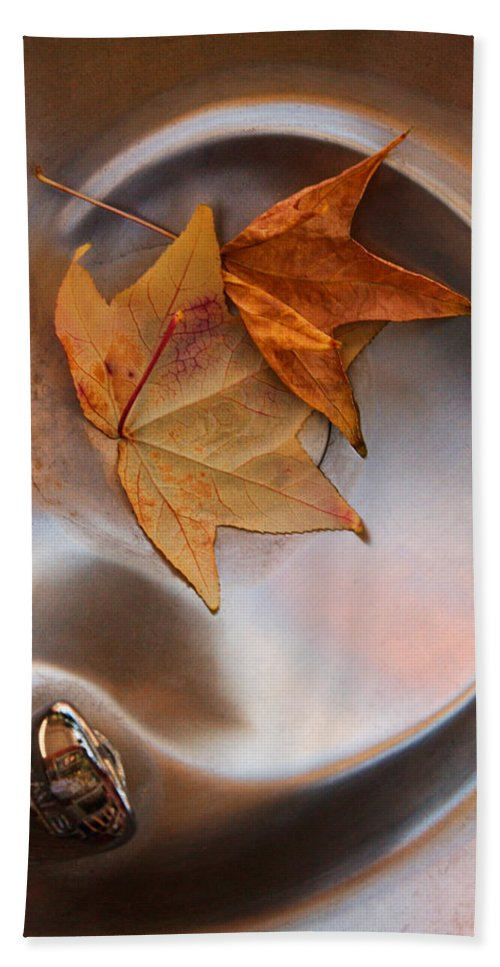 Fall Leaf Bath Sheet featuring the photograph Fall Fountain by Scott Sawyer