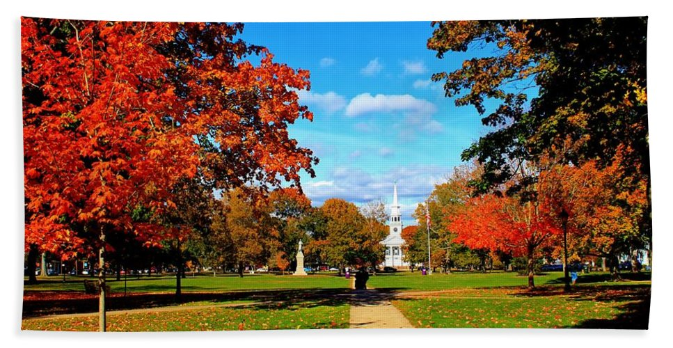 Guilford Bath Sheet featuring the photograph Fall In Guilford by Catie Canetti