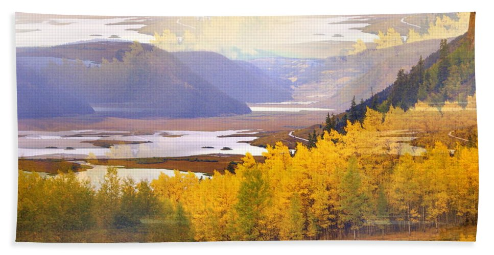 Fall Bath Sheet featuring the photograph Fall In The Rockies by Marty Koch