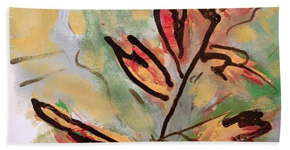 Fall Hand Towel featuring the digital art Fall by Mary Jo Hopton