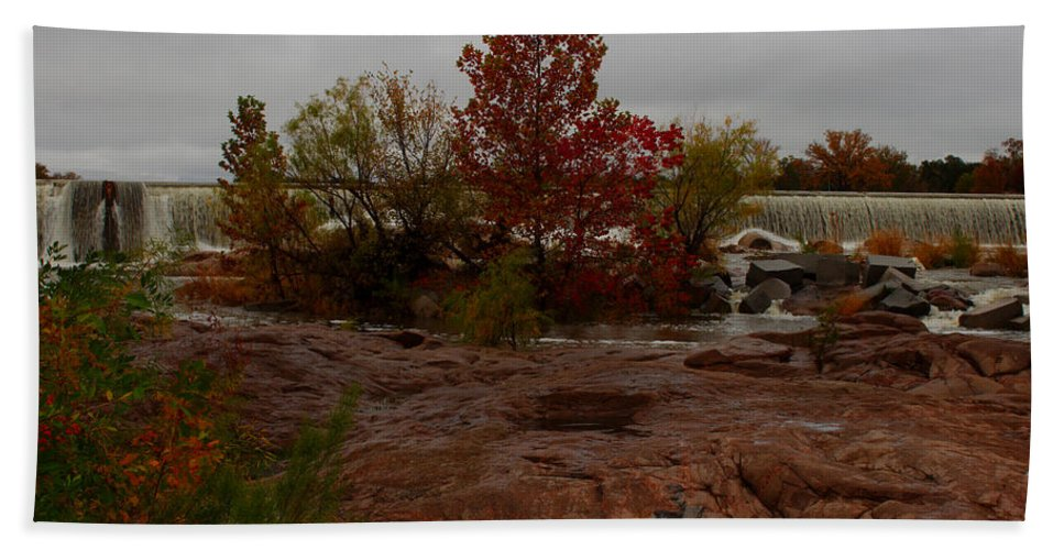 James Smullins Bath Sheet featuring the photograph Fall On The Llano by James Smullins