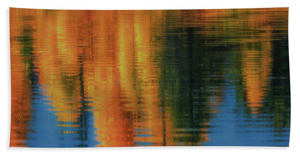 Luis A Ramirez Bath Sheet featuring the photograph Fall Palette by Luis A Ramirez
