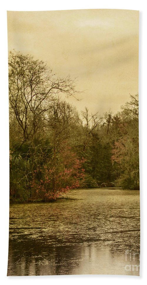 Water Hand Towel featuring the photograph Fall Pond by Margie Hurwich