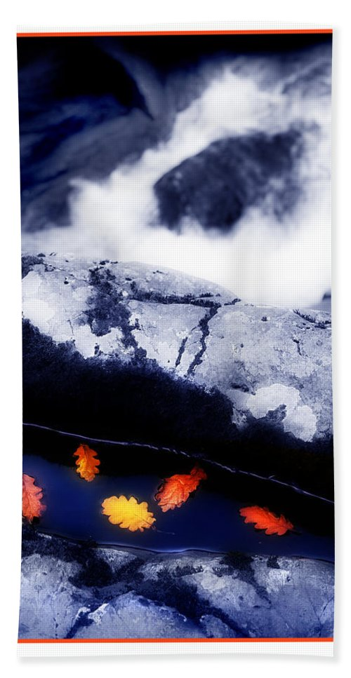 Water Bath Sheet featuring the photograph Fall Quintet by Mal Bray