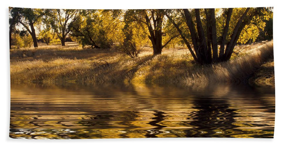 Fall Hand Towel featuring the photograph Fall Reflections by Jerry McElroy