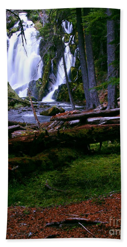 Waterfall Hand Towel featuring the photograph Fall Through by Peter Piatt