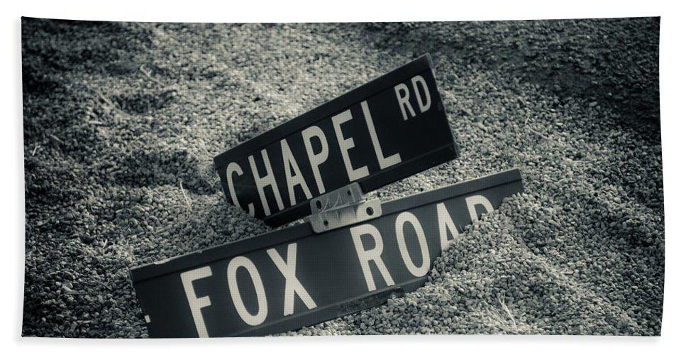 Road Signs Bath Sheet featuring the photograph Fallen Sign by Scott Sawyer